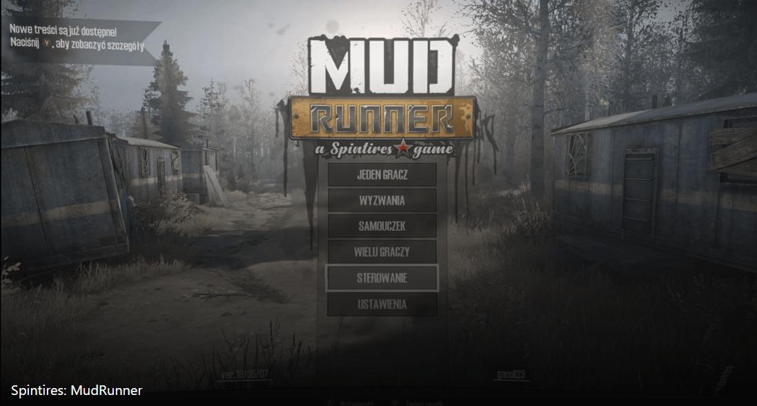 MudRunner - menu główne